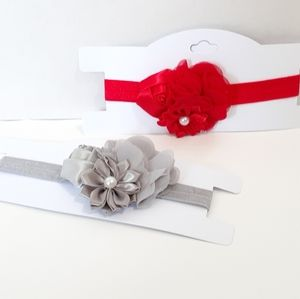 Other - Little Girls Red and Silver Satin Headband Set (2)